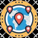 Map Navigation Global Icon