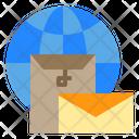 Mail Globe Postal Icon