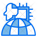 Processor Robotics Globe Icon