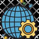 Global Progress Global Management Global Solutions Icon
