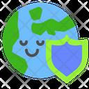 Global Protection Global Earth Icon