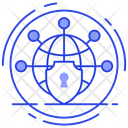Global Security Global Protection World Wide Security Icon