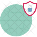 Cyber Safety Global Protection Online Security Icon