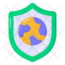 Secure World Global Protection Worldwide Protection Icon