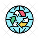 Global Recycle Environment Ecosystem Icon