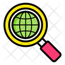 Global Research Foreign Search International Exploration Icon