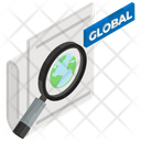Global Research Global Finding Global Optimization Icon