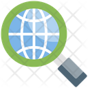 Global Research Business Magnifying Icon