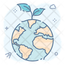 Global Sapling Growing Plant Ecology Icon