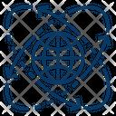 Global Science Globe Icon