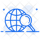 Global Search Worldwide Search Global Analysis Icon