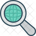 Global Search Business Internet Icon