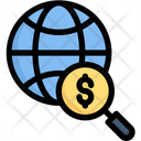Global Search Globe Money Global Research Icon