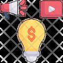 Internet Marketing Idea Money Icon