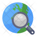 Global Search Global Exploration Worldwide Search Icon