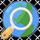 International Global Search Worldwide Search Icon
