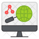 Global Search Global Analysis Global Research Icon