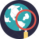 Magnifier Globe Search Icon