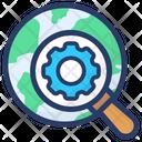 Global Search Setting Global Finding Global Optimization Icon