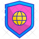 Global secure shield Icon