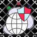 Global Protection Worldwide Security Cyberspace Icon