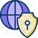 Global Security International Security Secure World Icon