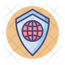 Iglobal Secure Shield Global Security Global Protection Icon