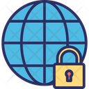 Global Security Globe Globe Lock Icon