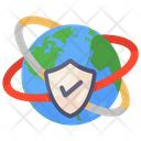 Global Security Global Protection Verified Security Icon
