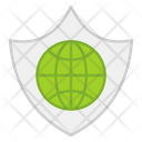Global Security Global Protection Global Safety Icon