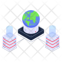 Global Servers Global Server Network Global Server Connection Icon
