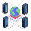 Global Networking Global Server Network Global Data Centers Icon