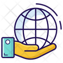 Global Service Global Care Worldwide Care Icon