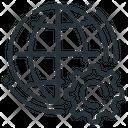 Globe Web Development Internet Gear Cogwheel Icon