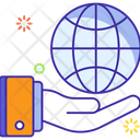 Global Service Global Charity Global Donation Icon