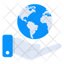 Global Services World In Hand International Services Icon