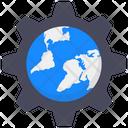Global Services Global Setting Worldwide Setting Icon