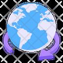 Global Service Around The Globe International Service Icon