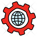 Global Service Global Setting Global Solution Icon
