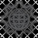 Global Service Global Setting Global Configuration Icon