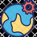 Browser Setting Globe Setting Icon
