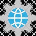 Global Settings International Settings World Icon
