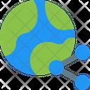 Global Share Globe Share Worldwide Sharing Icon