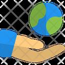 Global Share Worldwide Sharing International Network Icon