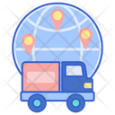 Global Shipping Global Delivery International Delivery Icon