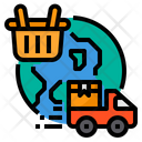 World Wide Shopping Delivery Icon