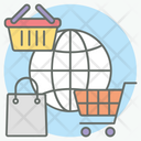 Global Advertising International Shopping Worldwide Buying Icon