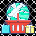 Ecommerce International Shopping Worldwide Shopping Icon