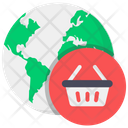 Global Shopping Worldwide Shopping Foreign Shopping Icon
