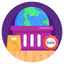 Worldwide Shopping Global Shopping Global Sale Icon